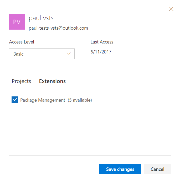 VSTS package management permission